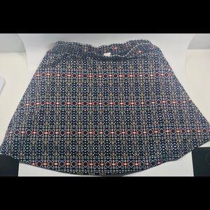 H&M geometric floral print Skater skirt Size small